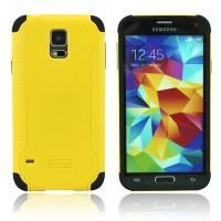 Двухкомпонентный нескользящий силиконовый чехол повышенной степени защиты для Samsung Galaxy S5 Mini Желтый