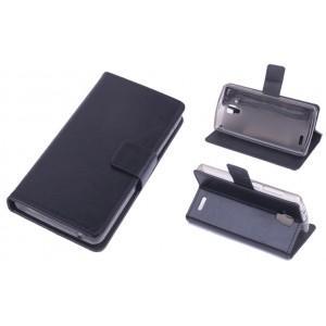 Чехол флип-подставка с отделением для карт для Lenovo A536 Ideaphone Черный