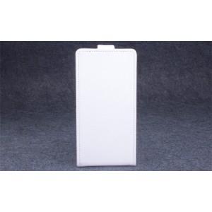 Чехол вертикальная книжка на пластиковой основе с магнитной застежкой для Lenovo A536 Ideaphone Белый