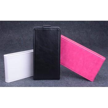 Чехол вертикальная книжка на пластиковой основе с магнитной застежкой для Lenovo A536 Ideaphone