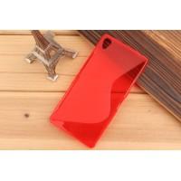 Силиконовый S чехол для Sony Xperia Z3 Красный