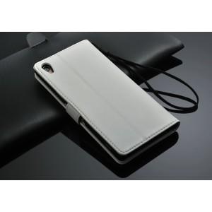 Чехол портмоне подставка с магнитной защелкой для Sony Xperia Z3 Белый