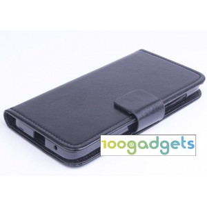 Чехол портмоне подставка с защелкой для Alcatel One Touch Idol 2 mini Черный