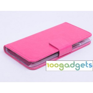 Чехол портмоне подставка с защелкой для Alcatel One Touch Idol 2 mini Пурпурный