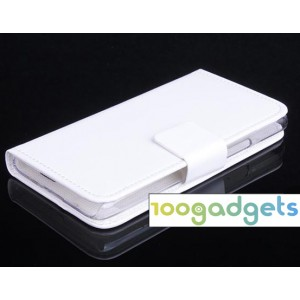 Чехол портмоне подставка с защелкой для Alcatel One Touch Idol 2 mini Белый
