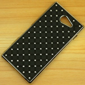 Пластиковый чехол со стразами для Sony Xperia M2 dual Черный