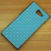 Пластиковый чехол со стразами для Sony Xperia M2 dual Голубой