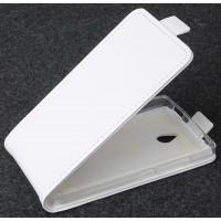 Чехол вертикальная книжка на силиконовой основе с магнитной застежкой для Nokia X2 Белый