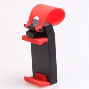 Универсальный автомобильный держатель на руль для гаджетов 55-75 мм Красный