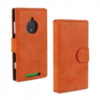 Чехол портмоне подставка винтажный с защелкой для Nokia Lumia 830 Оранжевый