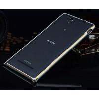 Металлический алюминиевый бампер для Sony Xperia C3 Серый