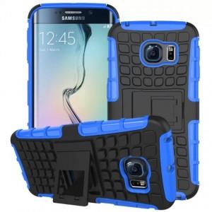Силиконовый чехол экстрим защита для Samsung Galaxy S6 Edge Синий