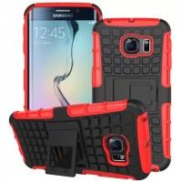 Силиконовый чехол экстрим защита для Samsung Galaxy S6 Edge Красный