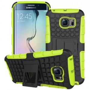 Силиконовый чехол экстрим защита для Samsung Galaxy S6 Edge Зеленый