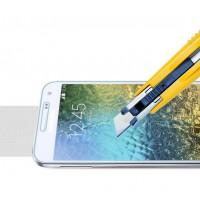 Ультратонкое износоустойчивое сколостойкое олеофобное защитное стекло-пленка для Samsung Galaxy E5