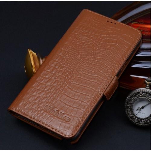 Кожаный чехол портмоне (нат. кожа крокодила) для Samsung Galaxy S6 Edge