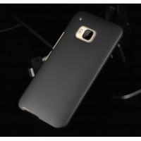 Пластиковый металлик чехол для HTC One M9 Черный