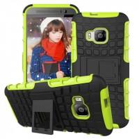 Силиконовый чехол экстрим защита для HTC One M9 Зеленый