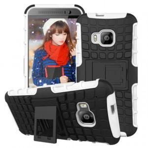 Силиконовый чехол экстрим защита для HTC One M9 Белый