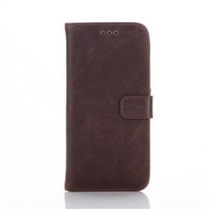 Чехол портмоне подставка винтажный с защелкой для HTC One M9 Коричневый