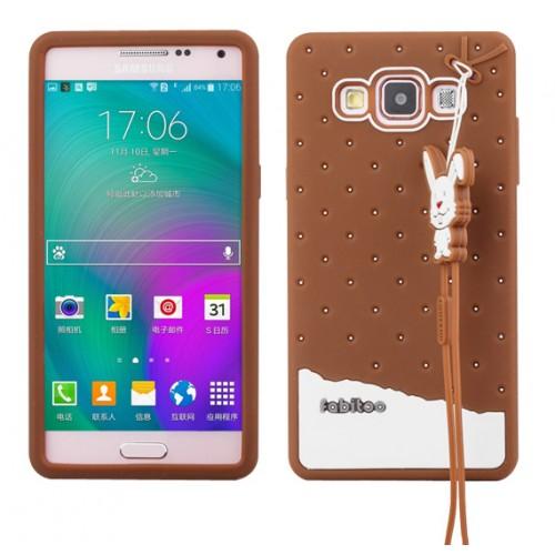 Силиконовый дизайнерский фигурный чехол с шнурком для Samsung Galaxy A5