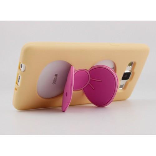 Силиконовый дизайнерский фигурный чехол подставка Бабочка для Samsung Galaxy A5