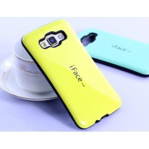 Силиконовый эргономичный непрозрачный чехол с нескользящими гранями для Samsung Galaxy A5 Желтый