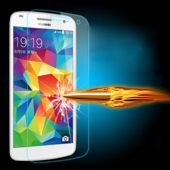 Ультратонкое износоустойчивое сколостойкое олеофобное защитное стекло-пленка для Huawei Ascend G7