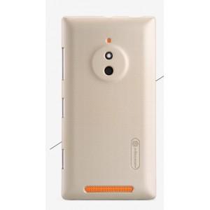 Пластиковый матовый нескользящий премиум чехол для Nokia Lumia 830 Бежевый