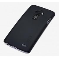Пластиковый матовый текстурный чехол для LG G Flex 2 Черный