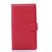 Чехол портмоне подставка с защелкой для LG G Flex 2 Красный