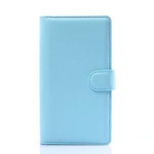 Чехол портмоне подставка с защелкой для LG G Flex 2 Голубой