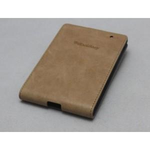 Кожаный чехол вертикальная книжка (нат. кожа) для Blackberry Passport