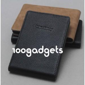 Кожаный чехол вертикальная книжка (нат. кожа) для Blackberry Passport Черный