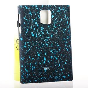 Пластиковый матовый непрозрачный чехол с объемным принтом Кляксы для Blackberry Passport