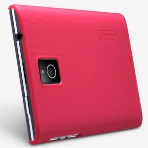Пластиковый матовый нескользящий премиум чехол для Blackberry Passport Красный