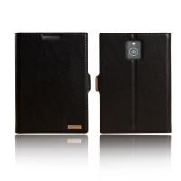 Чехол флип подставка с защелкой для Blackberry Passport Черный