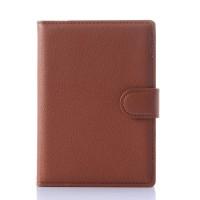Чехол портмоне подставка с защелкой для Blackberry Passport Коричневый