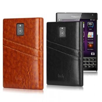 Кожаный чехол накладка с внешними карманами для Blackberry Passport
