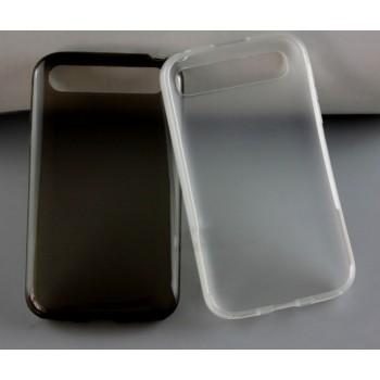 Силиконовый матовый полупрозрачный чехол для Blackberry Classic