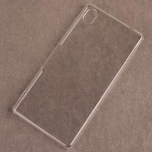 Пластиковый транспарентный чехол для Sony Xperia M4 Aqua Белый