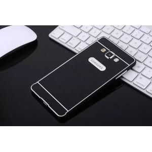 Двухкомпонентный чехол с металлическим бампером и поликарбонатной накладкой для Samsung Galaxy E7