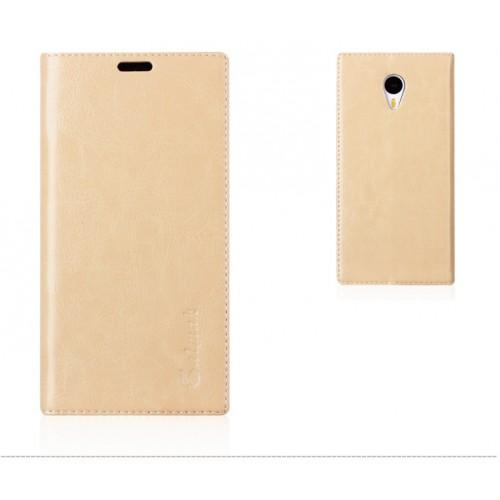 Кожаный чехол подставка для Meizu M1 Note