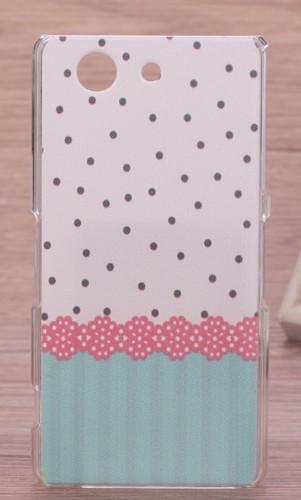 Пластиковый матовый дизайнерский чехол с принтом для Sony Xperia Z3 Compact