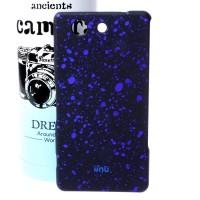 Пластиковый матовый непрозрачный чехол с голографическим принтом Звезды для Sony Xperia Z3 Compact Синий