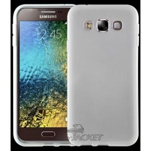 Силиконовый матовый непрозрачный чехол для Samsung Galaxy E5