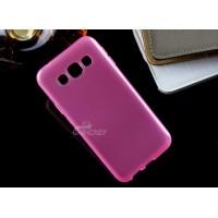 Силиконовый матовый непрозрачный чехол для Samsung Galaxy E5 Розовый