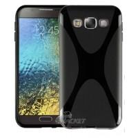 Силиконовый X чехол для Samsung Galaxy E5 Черный