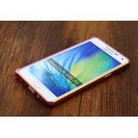Металлический бампер для Samsung Galaxy A7 Розовый