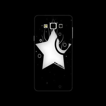 Пластиковый матовый дизайнерский чехол с принтом Noir для Samsung Galaxy A7